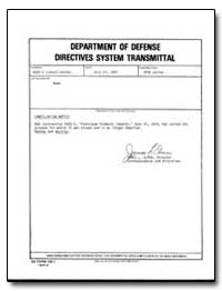 Department of Defense Directives System ... by Elmer, James L.