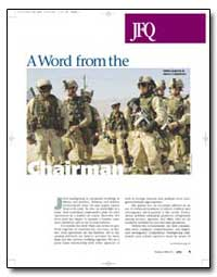 Joint Force Quarterly : A Word from the ... by Meyers, Richard B.