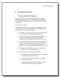I. The Commissions Charter by Department of Defense