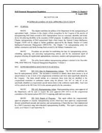 Chapter 6 Hh Reprogramming of Dod Approp... by Department of Defense