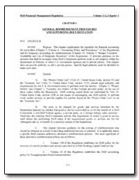 Chapter 1 General Reimbursement Procedur... by Department of Defense