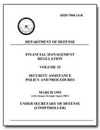 Financial Management Regulation Volume 1... by Department of Defense
