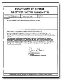 Department of Defense Directives System ... by Elmer, James L.