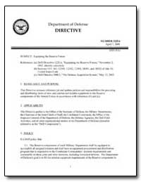 Equipping the Reserve Forces by Department of Defense