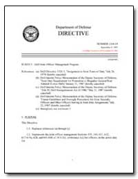 Dod Joint Officer Management Program by Department of Defense