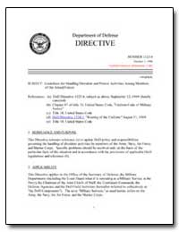 Guidelines for Handling Dissident and Pr... by Department of Defense