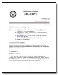 Armed Services Exchange Policy by Department of Defense