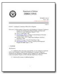 Intelligence Community Officer (Ico) Pro... by Department of Defense