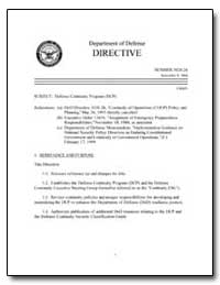 Defense Continuity Program (Dcp) by Department of Defense