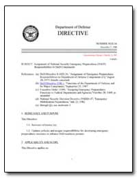 Assignment of National Security Emergenc... by Department of Defense