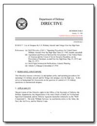 Use of Airspace by U.S. Military Aircraf... by Department of Defense