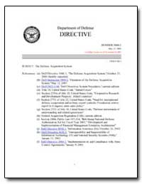 The Defense Acquisition System by Department of Defense