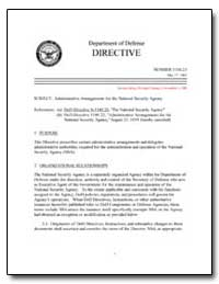 Administrative Arrangements for the Nati... by Department of Defense