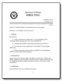 Worldwide Military Command and Control S... by Department of Defense