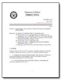 Principal Deputy under Secretary of Defe... by Department of Defense
