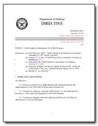Dod Freedom of Information Act (Foia) Pr... by Department of Defense