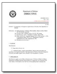 Investigations of Allegations against Se... by Department of Defense
