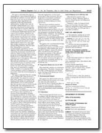 Federal Register Vol. 67, No. 90 Thursda... by Department of Defense