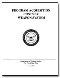 Program Acquisition Costs by Weapon Syst... by Department of Defense