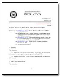 Programs for Military Morale, Welfare, A... by Department of Defense