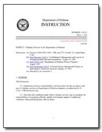 Voluntary Services in the Department of ... by Department of Defense