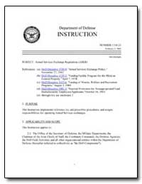 Armed Services Exchange Regulations (Ase... by Department of Defense