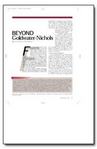 Beyond Goldwater-Nichols by Chiarelli, Peter W.