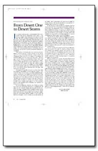 From Desert One to Desert Storm by Department of Defense
