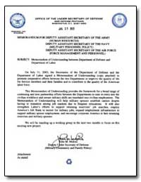 Memorandum of Understanding between Depa... by Molino, John M.