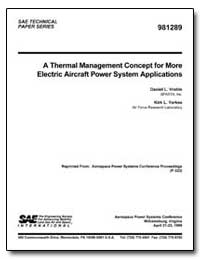 A Thermal Management Concept for More El... by Vrable, Daniel L.
