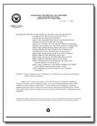 Policy Guidance for Use of Mobile Code T... by Department of Defense
