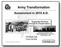 Army Transformation Sustainment in 2015 ... by Department of Defense
