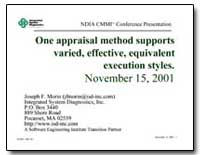 One Appraisal Method Supports Varied, Ef... by Morin, Joseph F.