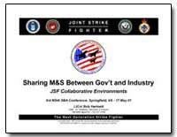 Sharing M&S between Government and Indus... by Hartnett, Bob, Lieutenant Colonel