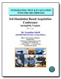 Integrating Test and Evaluation into the... by Sakell, Leonidas, Dr.