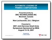 Automatic Loading of Priming Composition... by Drolet, J. Pierre