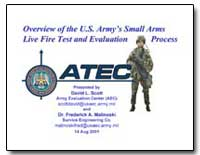 Overview of the U.S. Army's Small Arms L... by Scott, David L.