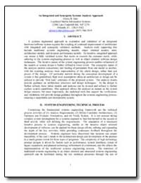 An Integrated and Synergistic Systems An... by Isler, Gloria B.