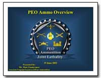 Peo: Ammo Overview by Zimmerman, Matthew T.