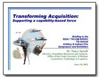 Transforming Acquisition: Supporting a C... by Spruill, Nancy, Dr.