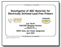 Investigation of Mic Materials for Elect... by Hardt, Lee