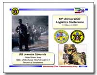 18Th Annual Dod Logistics Conference 14 ... by Edmunds, Jeanette