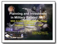 Planning and Investment in Military Rela... by Oneill, Malcolm R., Dr.