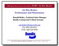 Air Disc Brakes Performance and Maintena... by Bailey, Ronald
