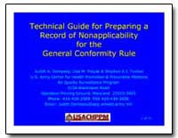 Technical Guide for Preparing a Record o... by Dempsey, Judith A.
