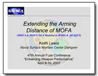 Extending the Arming Distance of Mofa by Lewis, Keith