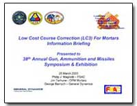 Low Cost Course Correction (Lc3) for Mor... by Magnotti, Philip J.