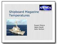 Shipboard Magazine Temperatures by Peters, Susan