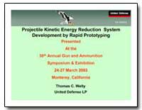Projectile Kinetic Energy Reduction Syst... by Welty, Thomas C.