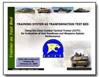 Training System as Transformation Test B... by Department of Defense